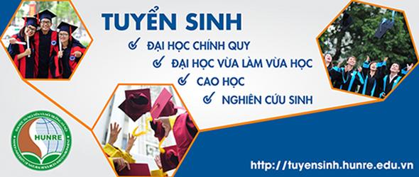Trang tuyển sinh Trường Đại học Tài Nguyên và Môi Trường Hà Nội