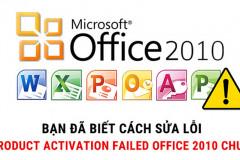 Một số lỗi thường gặp trong Microsoft office